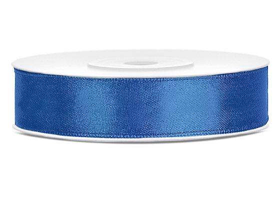 Tasiemka satynowa 12mm 25m kolor królewski niebieski