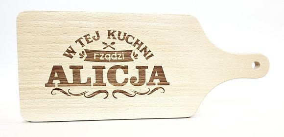 Deska do krojenia z imieniem ALICJA