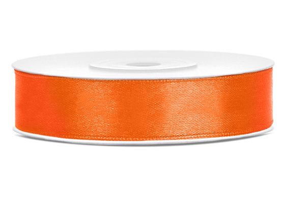 Tasiemka satynowa 12 mm 1m kolor pomarańczowy