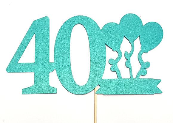 Topper napis na tort 40 urodziny
