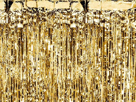 Kurtyna dekoracyjna kolor złoty 90 x 250cm