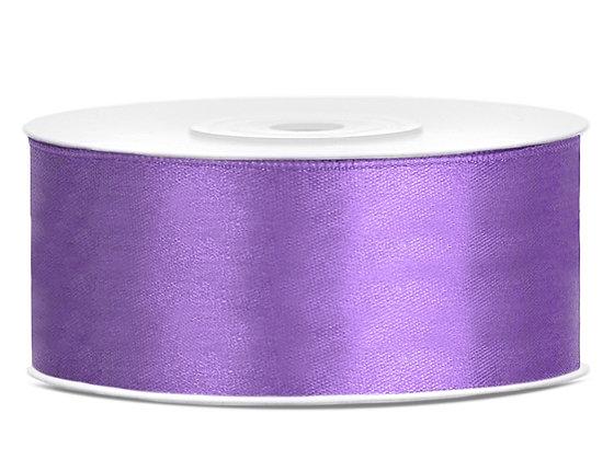 Tasiemka satynowa 25 mm 1m kolor liliowy