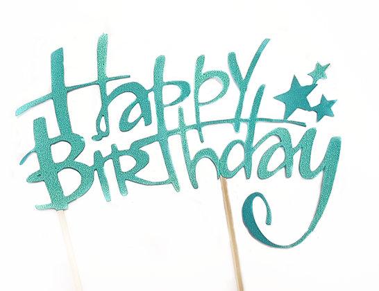 Topper napis na tort HAPPY BIRTHDAY