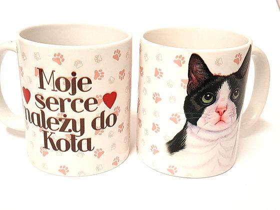 "Kubek z Twoim Pupilem ""Kot biało-czarny"""