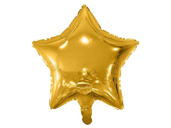 Balon foliowy złoty w kształcie gwiazdki