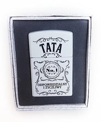 Zapalniczka w ozdobnym pudełeczku TATA