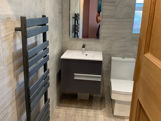 Derbyshire bathroom design & fit for Mr & Mrs Hanion