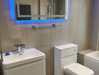 Mr and Mrs Rogan in Oldham, A stunning new bathroom with shower.