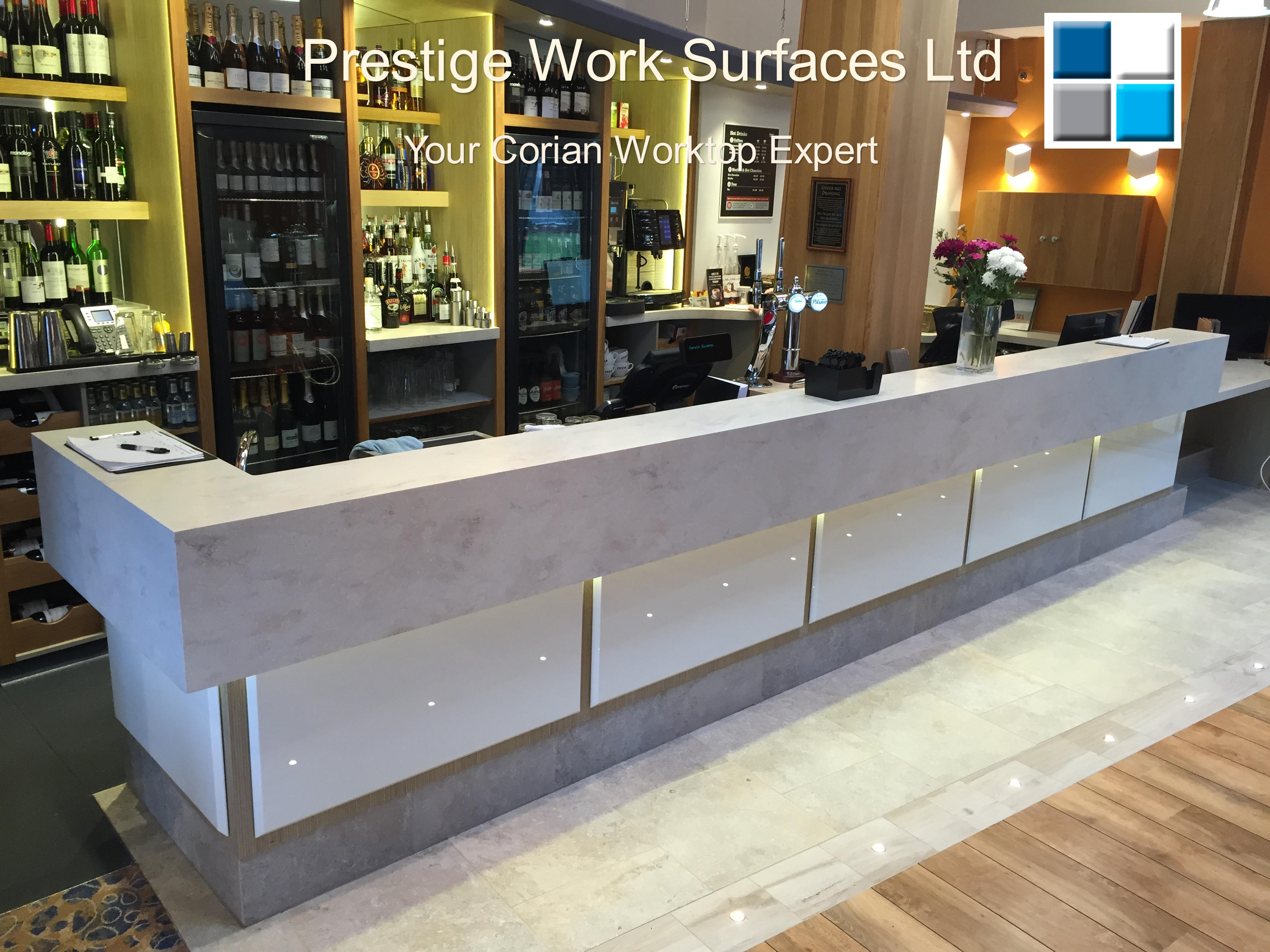 Your Corian Worktop Expert. Prestige Work Surfaces