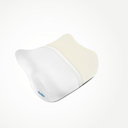 elativ - das orthopädische Kissen gegen Nackenschmerzen, mit weißem Überzug