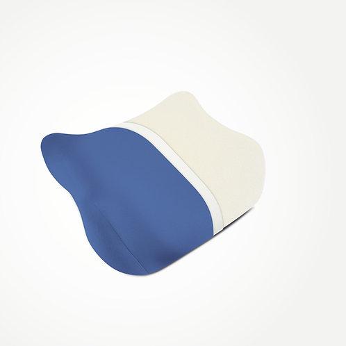 elativ - das orthopädische Kissen gegen Nackenschmerzen mit blauem Überzug
