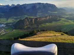 Elativ orthopädisches Kissen mit Extension Streckung im Nackenbereich gegen Nackenschmerzen Berg 03