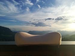 Elativ orthopädisches Kissen mit Extension Streckung im Nackenbereich gegen Nackenschmerzen Berg 07