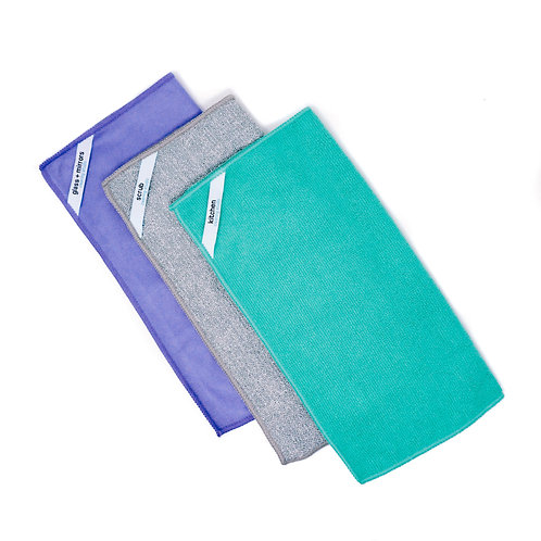 Microfiber Cleaning Cloth - Kitchen Kit (3-Pack)