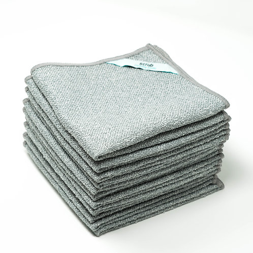 Scrub Microfiber Cleaning Cloth (Bulk Pack)