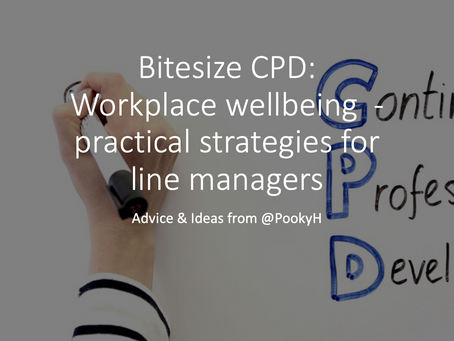 Bitesize CPD: Workplace wellbeing  - practical strategies for line managers