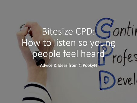 Bitesize CPD: How to listen so young people feel heard