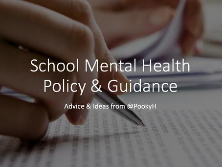 School Mental Health Policy & Guidance