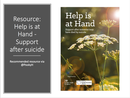 Resource: Help is at Hand - Support after suicide