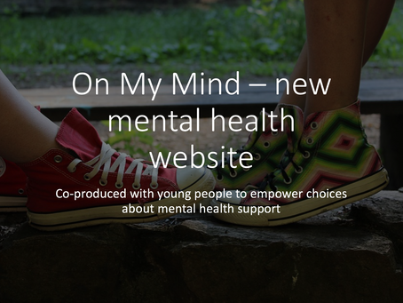 On My Mind - new website for young people