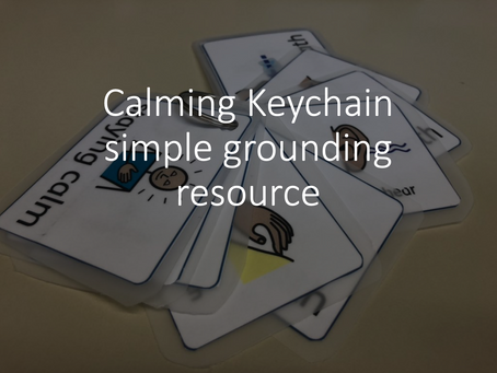 Calming Keychain - simple grounding resource