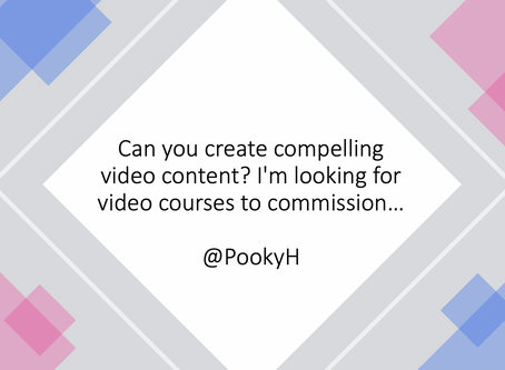 Can you create compelling video content? I'm looking for video courses to commission…