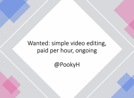 Wanted: simple video editing, paid per hour, ongoing