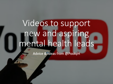 Videos to support new and aspiring mental health leads