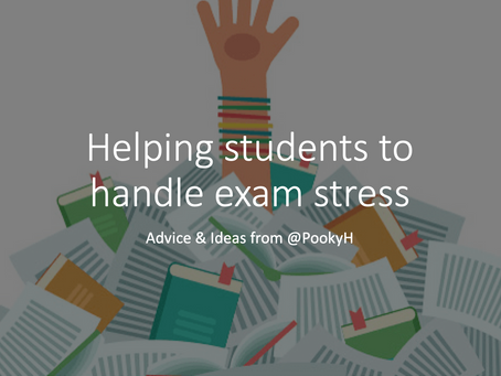 Helping students to handle exam stress