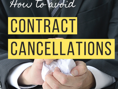How to Avoid Contract Cancellations