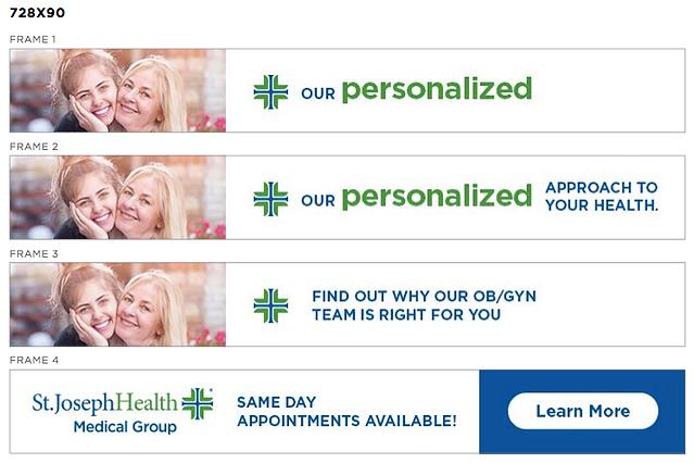 St Joseph Health Banner Ads Advertising