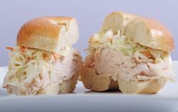 Turkey Sandwich on a Plain Bagel