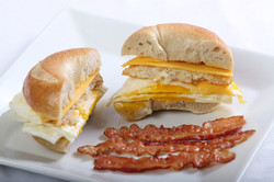 Egg and Cheese Sandwich with bacon
