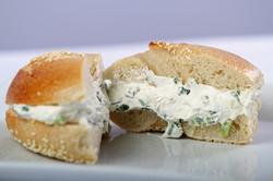 Sesame Bagel/Scallion cream cheese