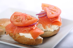 Open Face Lox Sandwich