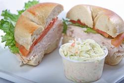 Turkey Sandwich with Coleslaw