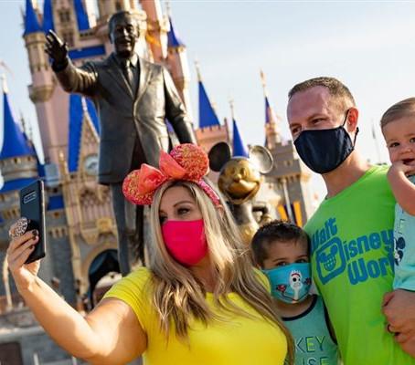 Veja fotos da reabertura da Disney World, em Orlando