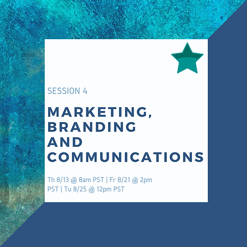 Study Session 4: Marketing, Branding and Communication