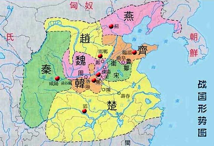 春秋 戦国 時代 地図