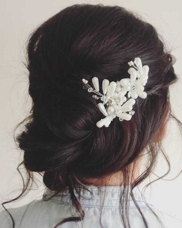 Boho updo 👰 _anjaregoord_mua__#bridalup