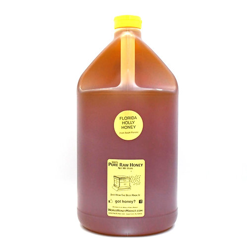 1 Gallon of Pure Raw Florida Holly Honey