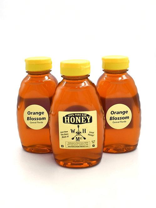 Raw Florida Orange Blossom Honey 100% Pure and Natural