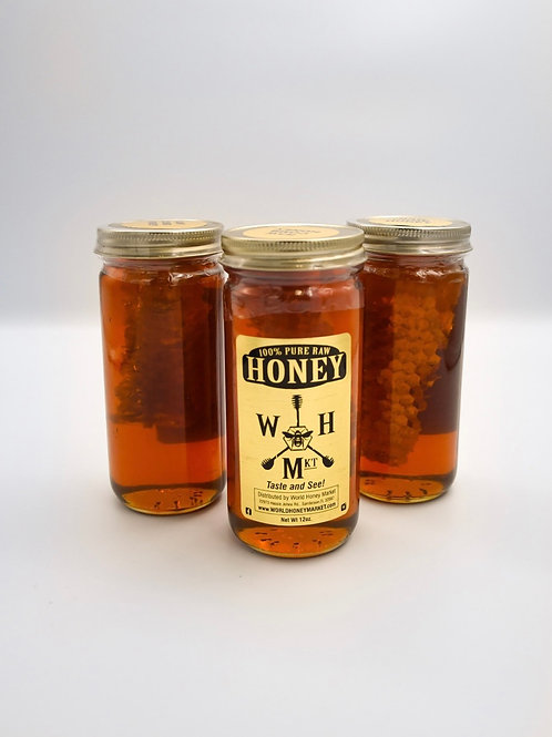 Raw Honey with Comb 12 oz jar
