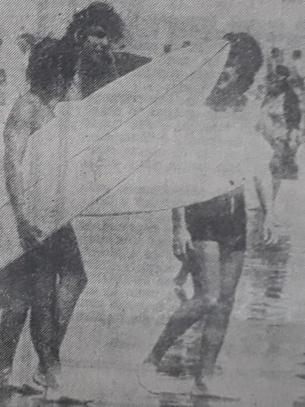 Em 1970 ocorre o 1º Campeonato Santista de Surf