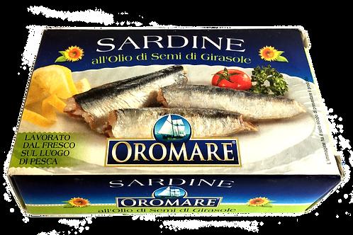 Sardine in Olio di Semi di Girasole | OROMARE