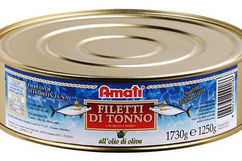 Filetti di Tonno yellowfin in olio di Oliva 1800g