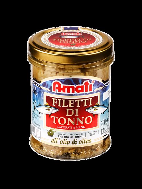 Filetti di Tonno in Olio d'Oliva 200g