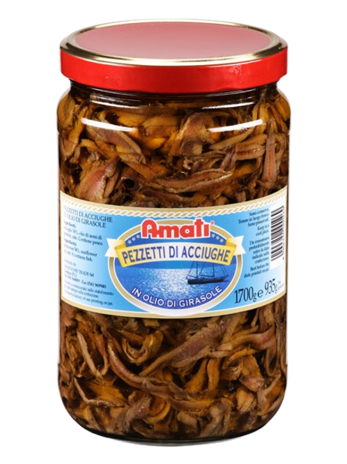 Pezzetti d'Acciughe in Olio di Girasole 1700g