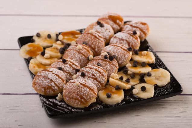 Banana Caramel Mini Pancakes