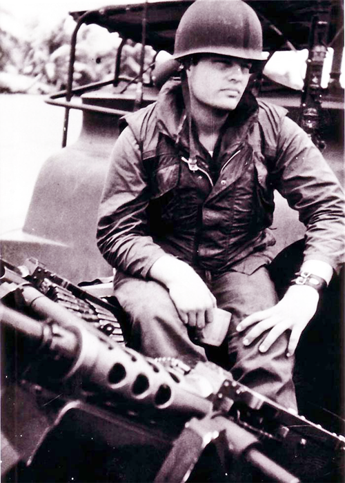 Dave in Vietnam before his injury. 1969